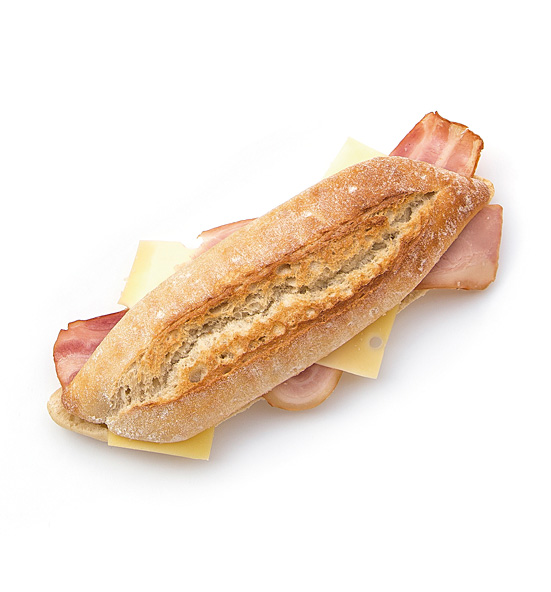 Bacon with cheese rustic sandwich 225 g